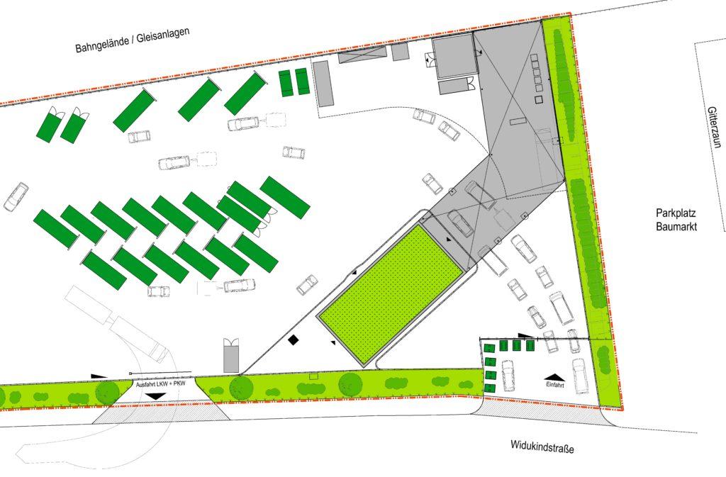 Ausschnitt Bauplan AWG Widukindstraße